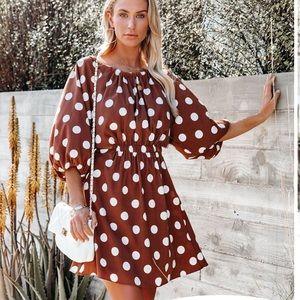 Dee Elly polka backless dress